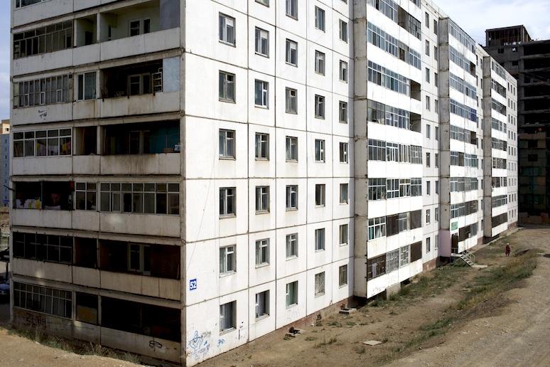 Soviet apartment block
