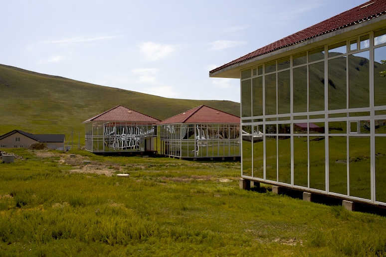 Mirrored houses