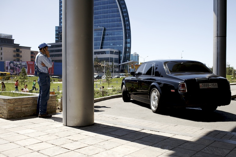 Rolls Royce and Blue Sky Tower