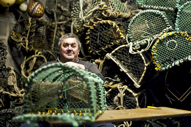 Jim Stephenson fixing crab pots